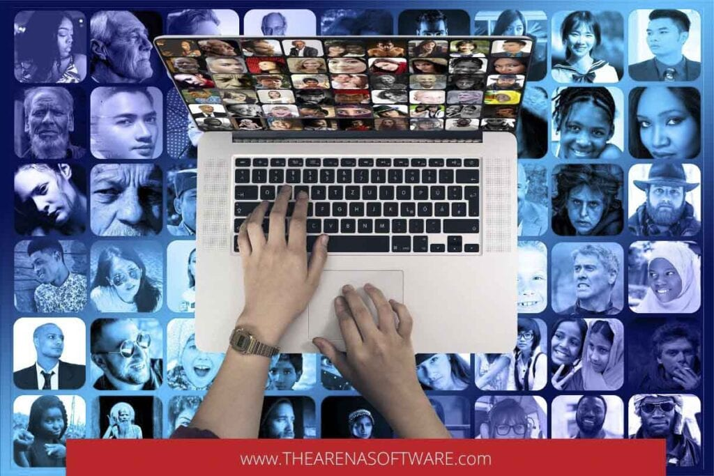Events on social media and online marketing.