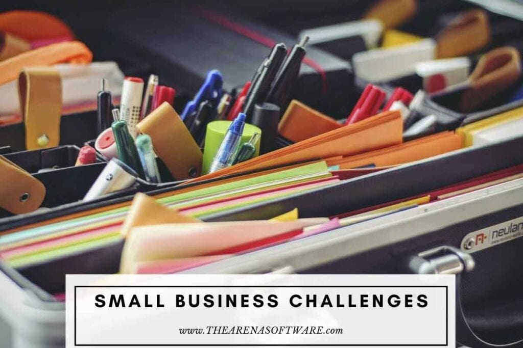 Common challenges that small businesses face. eeling overwhelmed by changes in technology and software So many business owners are too scared of technology and software to really take advantage of using them to streamline their business. If they just spent a short amount of time each week to learn solutions like Google Analytics, Dropbox or embrace a modern day CRM they'll be able to be so much more efficient.